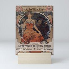 ST. LOUIS World's Fair Alphonse Mucha 1904 Mini Art Print