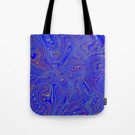 Blue Oil spill Tote Bag