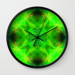 Dewdrops in the Garden at Midnight Wall Clock