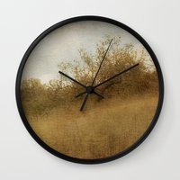 pixies Wall Clocks featuring The Magical Oak Tree by Honey Malek