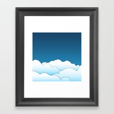 Paper Clouds Framed Art Print