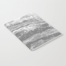 Real Gray Marble Notebook