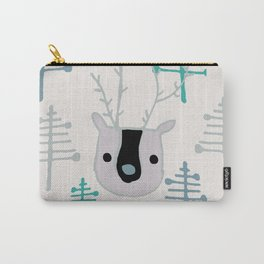 Holiday winter deer Carry-All Pouch