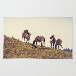 Wild Mustangs Rug