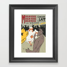 Moolin Rouge - This Cow Can Can Can Framed Art Print