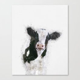 Holstein Cow Watercolor Canvas Print