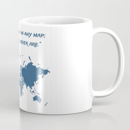 Travel Map with a Quote Coffee Mug