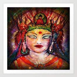 Enlightenment Silk Road Buddha by Sheridon Rayment. Art Print