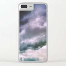 Thunder Clouds Clear iPhone Case