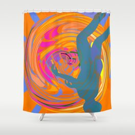 Head Down in The Tunnel Shower Curtain