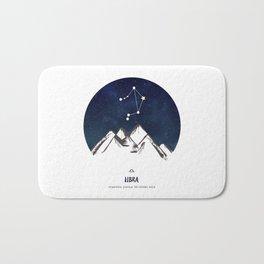 Astrology Libra Zodiac Horoscope Constellation Star Sign Watercolor Poster Wall Art Bath Mat