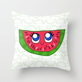 happy watermelon Throw Pillow