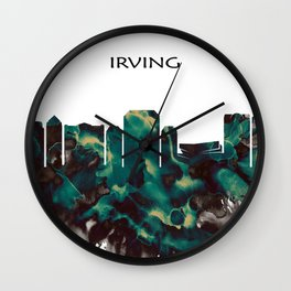Irving Skyline Wall Clock