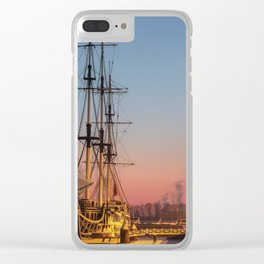 Frigate Grace - the restaurant in winter. Clear iPhone Case