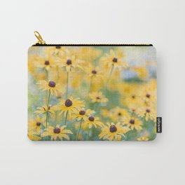 Sunny Disposition - Field of Wildflowers Photography Carry-All Pouch