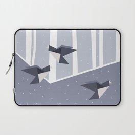 Elegant Origami Birds Abstract Winter Design Laptop Sleeve