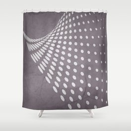 Halftone Flowing Swerve in Aubergine Shower Curtain
