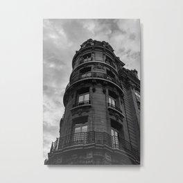 Noir Paris Metal Print