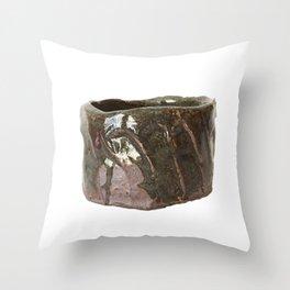 photograph of teabowl handbuilt by Rostislav Eismont of Richmond NH Throw Pillow