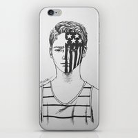 american psycho iPhone & iPod Skins featuring American Beauty/American Psycho by Katy Lawler