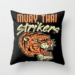 Muay Thai Strikers Tiger Kickboxing MMA Material Arts Judo Karate Gift Throw Pillow
