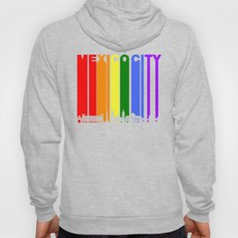 Mexico City Gay Pride Rainbow Skyline Hoody