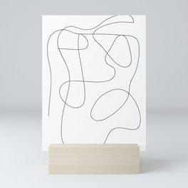 One line art, Line art print, Modern art print, Abstract wall art, One line drawing, Abstract wall art, Minimalist line art, Modern minimalist, Minimal line art, Modern art print, Trendy wall art, Scribble art, Black and white line art Mini Art Print
