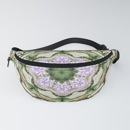 Orchids And Stone Wall Kaleidoscope 1764 Fanny Pack