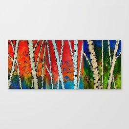 Birch Tree Stitch Canvas Print