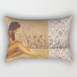 Girl in Field Rectangular Pillow