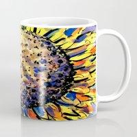 sunflower Mugs featuring Sunflower by Claudia McBain