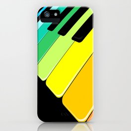 Piano Keyboard Rainbow Colors  iPhone Case