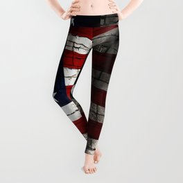 Barbed Wire and Bricks Leggings