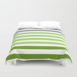 Stripes Gradient - Green Duvet Cover