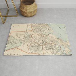 Vintage Map of Quincy MA (1907) Rug