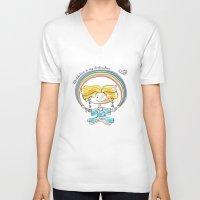 meditation V-neck T-shirts featuring Meditation by yulyasha_kudryasha
