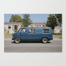 Blue Van Canvas Print