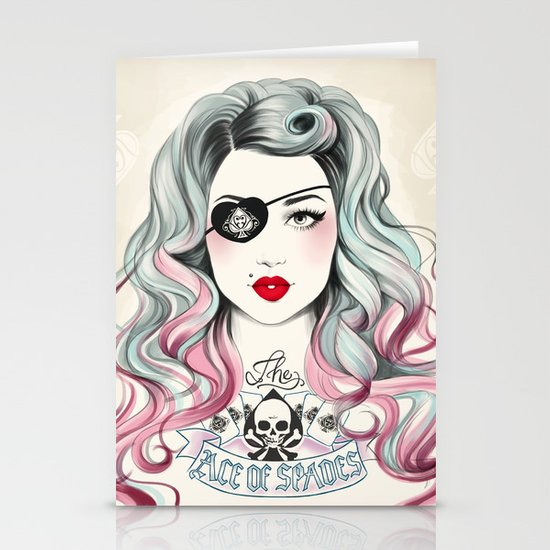 Ace of Spades Stationery Cards