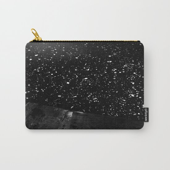 Moon Rising in the dark Black and White Carry-All Pouch