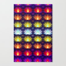 Variations on a Lotus I - Sparkle Brightly Canvas Print