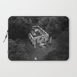 Old Sheldon Church Ruins Black and White Laptop Sleeve