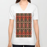 watermelon V-neck T-shirts featuring Watermelon by Robin Curtiss