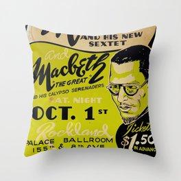 Thelonious Monk 1949 Harlem - Vintage Jazz Poster Throw Pillow