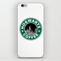 hogwarts iPhone & iPod Skins featuring Hogwarts Coffee by Beautiful Bibliophile's Boutique