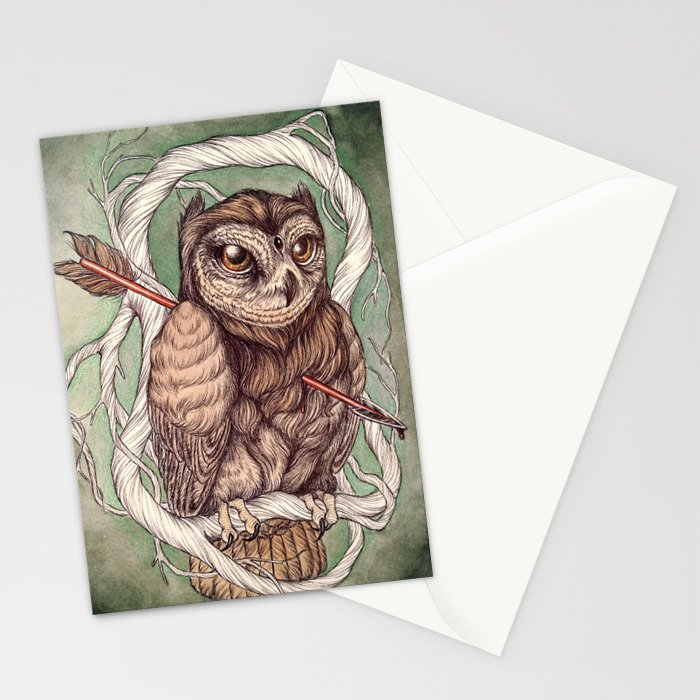 Wisdom Wounded by Folly Stationery Cards