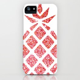 Colorful Pineapples Pink iPhone Case
