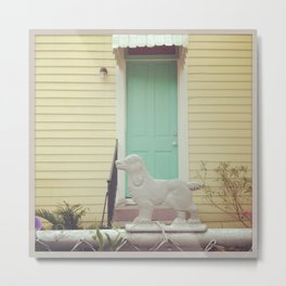 Bywater Guard Dog, New Orleans Metal Print