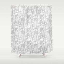 Winter patterns on the window. Shower Curtain