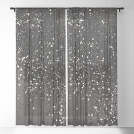 Blush Gray Black Lady Glitter #2 #shiny #decor #art #society6 Sheer Curtain