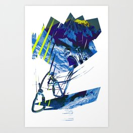 Climbing in the french Alps, alpinists Art Print